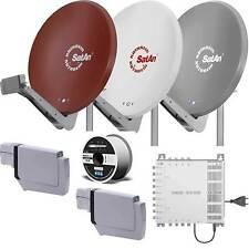 Kathrein Sat Anlage CAS 90 Astra+Eutelsat /Hotbird für 6 Teilnehmer +100m Kabel