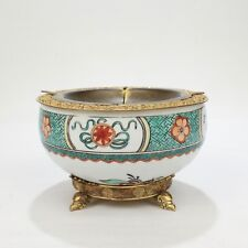 Gilded Age E F Caldwell Bronze-Mounted Chinese Export Porcelain Ashtray Bowl VR
