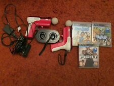 Ps3 Move Bundle with Docking Station Gun Housing, Motion Eye Camera and Games.