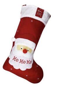 Santa Christmas Stocking Embroidered Sack Father Nordic Xmas 50cm Gift
