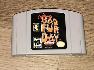 Conker's Bad Fur Day Nintendo 64 N64 Cleaned & Tested Authentic