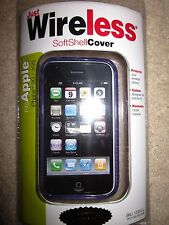 Just Wireless Softshell Cover iPhone 3G 3GS Smartphone Rubber Soft Case Lavender