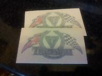 TRIUMPH THUNDERBIRD CHEQUERED FLAG'S STICKERS,