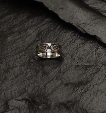 Sterling Silver Celtic Spiral Ring ~ Narrow