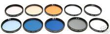49mm. set 10 filtri polarizzatore, colorati, UV, ecc.
