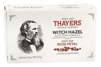 Thayers BODY BAR SOAP Witch Hazel Aloe Vera Rose Petal 5 oz CLEANSE, MOISTURIZE
