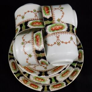 Sara - Vintage Shabby Chic 13 Piece Bell China Tea Set with Cake Plate