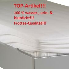 Matratzenschoner urindicht Inkontinez Matratzenbezug 90x200 Molton Frottee NEU O