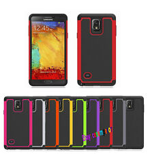 10PCS 2 Layers Armor Style Shock Proof Cover Case for Samsung Galaxy Note 4
