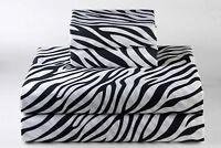 100% Cotton 800 TC Bedding Item Zebra  Print  Sheet Set/Duvet/Fitted/Pillow
