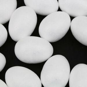 50 Stücke Modellierung Styropor DIY Schaum Eier Ostern Dekor   Weiß DIY