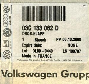 NEU ORIGINAL VW Drosselklappe Touran Golf Passat Caddy Skoda Seat Audi 1.4TSI