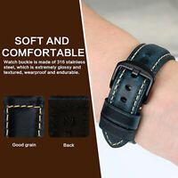 20/22/24mm Adjustable Vintage Genuine Leather Watch Band Wrist Strap Replacement