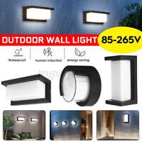 LED Außen-Leuchte mit Bewegungsmelder Außen-Lampe Sensor Anthrazit Wasserdicht
