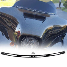 Black Anodized 4 Slots Windshield Trim for 1996-2013 Harley Electra Street Glide