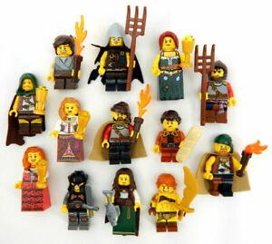 7 NEW RANDOM LEGO MEDIEVAL PEASANT MINIFIG LOT minifigure figure castle knight