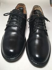 LEATHER GENUINE US NAVY LAST OXFORD SHOE SIZE 8 D Made In Taiwan Very Rare