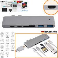 7IN1 USB-C Hub Aluminium USB 3.1 Gen1 Typ C Hub Adapter 4K HDMI Video Ausgang DE