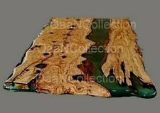 Epoxy table Natural Olive Wood  green Epoxy resin Table,
