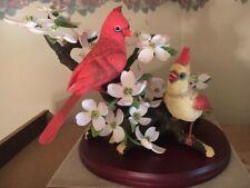 Boehm Limited Signed # Edition Cardinals Crimson Spring Bird Large Figurine Nib