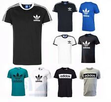 New Mens Adidas Originals California Crew Neck Trefoil Cotton Tee T-Shirt Top
