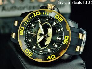 Invicta Mens 50mm DC Comics SCUBA BATMAN Limited Edition Black/Yellow Tone Watch