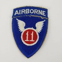 WW11 11TH AIRBORNE ONE PIECE PATCH USAF AIR FORCE VINTAGE