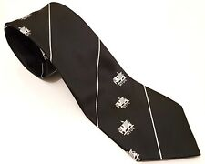 WTUC Tie Black White Stripes Welsh Trade Union Congress Polyester T26