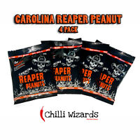 Carolina Reaper Chilli Peanuts - Hot as Hell Seasoned Peanuts 4 Pack