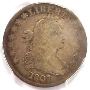 1807 Draped Bust Quarter 25C Coin - Certified PCGS Fine Details - Rare Coin!