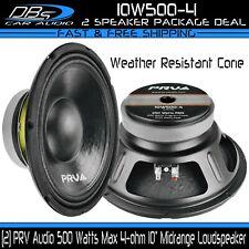"2 PRV Audio 10W500-4 10"" Midrange Car Loud Weather Resistant Speaker 1000W 4-ohm"