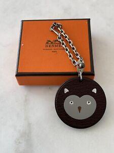 Auth RARE Hermes Bag Charms Animal Razor Owl Keychain Key Chain