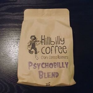 Hillbilly Coffee - Psychobilly Blend Coffee Beans 250 gm Single Bag
