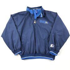Vintage 90s Starter Jacket North Carolina Tar Heels Large Pullover Windbreaker