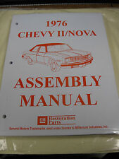 1976 CHEVT II, NOVA (ALL MODELS) ASSEMBLY MANUAL