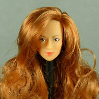 1//6 Scale Kumik Female Deep Reddish Hair Piece with Adhering Sticky Gum