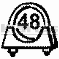 Klarius Part Number : SYA8 48mm Exhaust U-Clamp