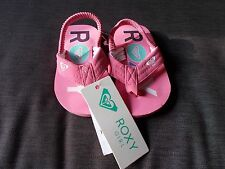 ROXY 'Lil Lila' Toe Post Style Elasticated Strap Sandals UK5 EU21 Pink Mix BNWT