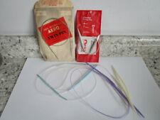 Lot of 5 Vintage Circular Knitting Needles Aero TwinPin + more