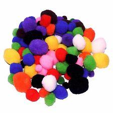 Craft Pompones Paquete de 100 Colores y Tamaños Surtidos