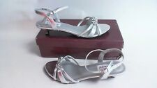 NEW: Dyeable Bridal/Evening Shoes - Penelope - Silver - US 9B- UK 7  #38R217