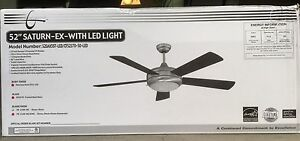 Concord 52SAX5ST-LED 52'' Saturn-EX With LED Light, Stainless Steel Ceiling Fan