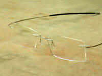 Rimless Reading Glasses +1.0 +1.5 +2.0 to +6.0 Rectangular Lens Titanium Frames