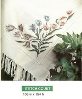 TULIP AFGHAN   -  CROSS STITCH PATTERN ONLY    HM-ERUP