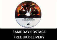 Virtual Fire Place Log Fire DVD 9 Different Fire Settings (Free UK Delivery) *