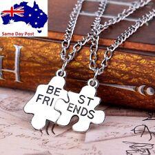 2pce Best Friends Pendant Necklaces Friendship Puzzle Letters Chain Necklace BFF