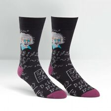 "SOCK IT TO ME Mens' ""RELATIVELY COOL"" Novelty Crew Socks- Black - EINSTEIN"