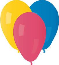 100 PALLONCINI TONDI OVALI IN LATTICE GEMAR A70/80 Colori misti Balloons 19 cm