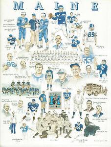 1991 University of Maine College Football Media Guide w. Iowa Coach Kirk Ferentz