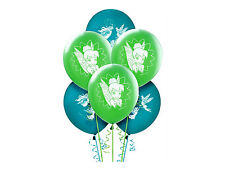 "TINKERBELL PARTY SUPPLIES 6 LATEX BALLOONS 12"" HELIUM QUALITY DISNEY FAIRIES"